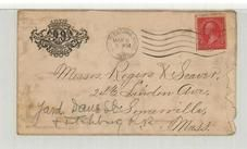 Messrs. Roger A. Seaver. 24.5 Linden Ave. Someville, Mass. 1895 Organized Artillery Association, Perkins Collection 1861 to 1933 Envelopes and Postcards