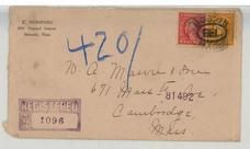 Mr. A. Mason & Sons 671 Mass Ave, Cambridge 18xx E. Dunsford 365 Concord Ave, Belmont Mass, Perkins Collection 1861 to 1933 Envelopes and Postcards