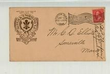 Mr. C. D. Eliote Somerville Mass, 1896 Suffolk Engraving Co., Perkins Collection 1861 to 1933 Envelopes and Postcards