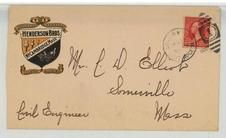 Mr. C. D. Elliot Somerville Mass 1902 Henderson Bros. Builders Designers Wagons Carriages, Perkins Collection 1861 to 1933 Envelopes and Postcards