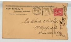 Mr. Charles D. Elliot 59 Oxford Street, Somerville, Mass. 1898 New-York Life Insurance Company, Perkins Collection 1861 to 1933 Envelopes and Postcards