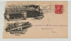 Mr. Charles D. Elliot, Civil Engineer Someville, Mass. 1907 M. W. Carr & Co., Perkins Collection 1861 to 1933 Envelopes and Postcards