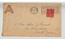 Mr. Chas J Elliot, 46 Cornhill, Boston, Mass 1921 Aberthaw Company Boston, Perkins Collection 1861 to 1933 Envelopes and Postcards