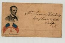 Mr. James Fielding - Care of Gordon & Keith - 1861c Abraham Lincoln Port., Perkins Collection 1861 to 1933 Envelopes and Postcards