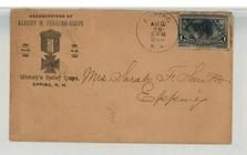 Mrs. Sarah F. Smith, Epping 1894 Albert M. Perkins Corps Woman's Relief Corps, Epping, NH, Perkins Collection 1861 to 1933 Envelopes and Postcards