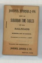 Suburban Time-Tables Cover 1897 Railroads Running out of Boston - Version 1, Perkins Collection 1873 to 1890c Railway Timetables and Tickets