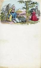 04x069.17 - Angel holding civil war soldier while woman prays, Civil War Illustrations from Winterthur's Magnus Collection