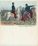 04x083.5 - Union soldiers on horseback in front of line of soldiers, Civil War Illustrations from Winterthur's Magnus Collection