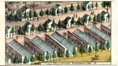 95x007.2 - Camp Chesebrough, Baltimore, MD 2, Civil War Illustrations from Winterthur's Magnus Collection
