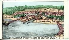95x007.4 - Encampment of U.S. Troops at Newport News, VA 2, Civil War Illustrations from Winterthur's Magnus Collection