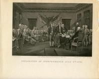 01x142.4 - Declaration of Independence July 4th, 1776 Version A, Historical American Illustrations from Winterthur's Magnus Collection