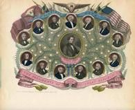 04x117.1 - Presidents of our Great Republic 1853 to 1860 Colored, Historical American Illustrations from Winterthur's Magnus Collection