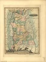 Alabama 1826 State Map
