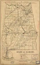 Alabama 1866 State Map, Alabama 1866 State Map