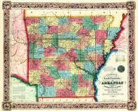 Arkansas 1854 State Map 17x20, Arkansas 1854 State Map