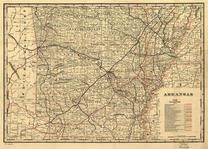 Arkansas Antique Maps And Historical Atlases Historic Map Works - Arkansas road map