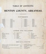 Table of Contents, Benton County 1903