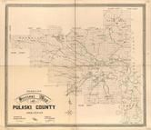 Pulaski County 1898c Wall Map, Pulaski County 1898c Wall Map