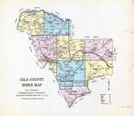 Index Map, Gila County 1960 Highway Maps