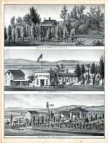 Residence and Farm of E. Munyan, Centerville, Property of W. W. Armstrong, Brooklyn, Residence and Farm of Jas. F. Kapp, Pleasanton