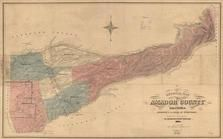Amador County 1866 Wall Map, Amador County 1866 Wall Map