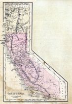 California 1856 State Map, California 1856 State Map