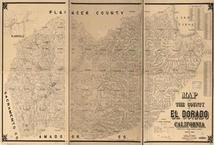 El Dorado County 1895 Wall Map, El Dorado County 1895 Wall Map