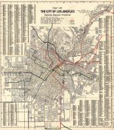 Los Angeles 1906 Railway System Map