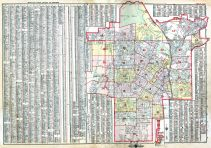 Index Map and Street Index, Los Angeles 1914 Baist's Real Estate Surveys