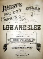 Title Page, Los Angeles 1921 Baist's Real Estate Surveys