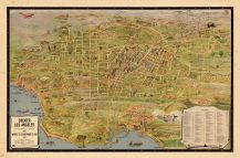 Los Angeles 1932 Tourist Map