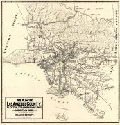 Los Angeles and Orange Counties 1912 Railway Map, Los Angeles and Orange Counties 1912 Railway Map