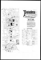 Index Map and Street Index, Pasadena 1888