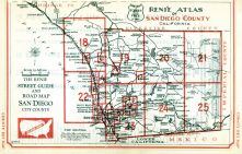 San Diego County Index Map 1, San Diego County 194x