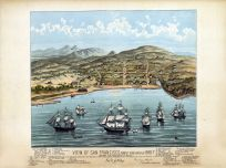 San Francisco 1846 Bird\s Eye View Created 1884 17x22 San Francisco 1846 Bird\s Eye View Created 1884 California  map online