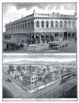 San Jose Brewery and Residence of PH. Doerr, Spring's Great American Cheap Store, Santa Clara County 1876