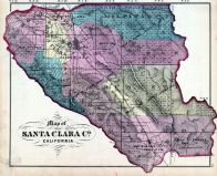 Index Map, Santa Clara County 1876
