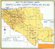 Santa Clara County Index Map, Santa Clara County 1956