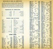 Street Index - 001, Santa Clara County 1956