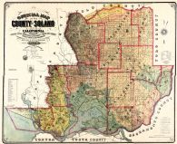 Solano County 1890 Wall Map 24x29, Solano County 1890 Wall Map