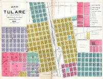 Tulare City Map, Tulare County 1892