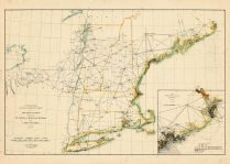 St. Croix and Hudson Rivers and Lake Ontario Chart 1882 New England