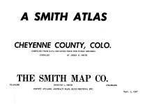 Title Page, Cheyenne County 1967