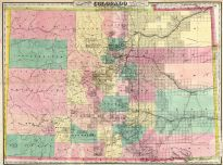 Colorado 1878 State Map 17x22, Colorado 1878 State Map