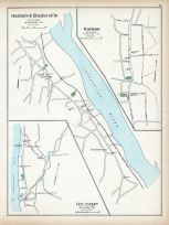 Haddam and Shailorville, Durham, East Haddam, Connecticut State Atlas 1893