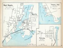 Mystic, West Mystic, Eastern Point, Taftville, Connecticut State Atlas 1893