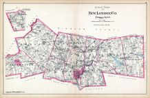 New London County - North Part, Connecticut State Atlas 1893