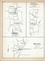 Ridgefield Borough, Newtown Borough, Darien, Connecticut State Atlas 1893