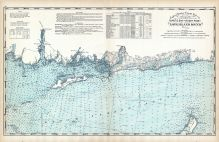 United States Coast Survey - Niantic Bay to Rocky Point - Long Island Sound, Connecticut State Atlas 1893
