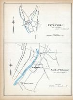 Waterville, South of Waterbury, Connecticut State Atlas 1893